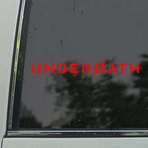 Underoath Red Decal Rock Band Car Truck Window Red Sticker