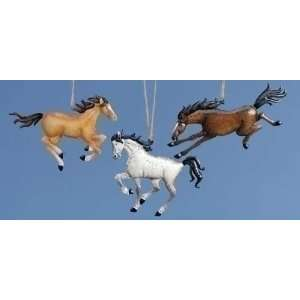 Club Pack of 12 Keepsakes Running Horse Christmas Ornaments