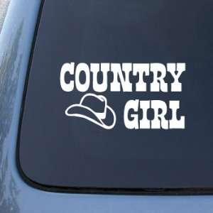 Country Girl Cowboy Hat   Car, Truck, Notebook, Vinyl Decal Sticker