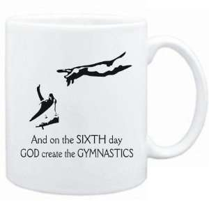 New   Sixth Day God Create The Gymnastics  Mug Sports