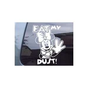 Minnie Mouse Eat My Dust Girl Car Truck Laptop Vinyl Decal