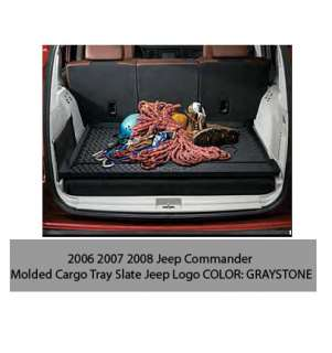 06 08 09 10 Jeep Commander Molded Cargo Tray Graystone