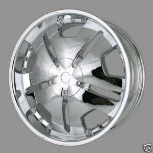 24 CHROME CENTER CAP RIM WHEEL VELOCITY 627