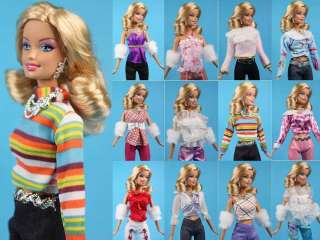 Rare 6 Items Fashion Clothes + Shoes For Barbie Dress