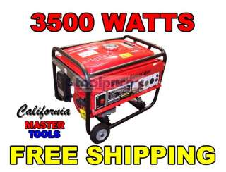 Generator 3500 Watt Portable Generator 4 Stroke Electric Start