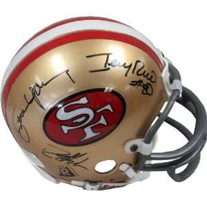Steve Young, Jerry Rice, Deion Sanders Autographed San Francisco 49ers