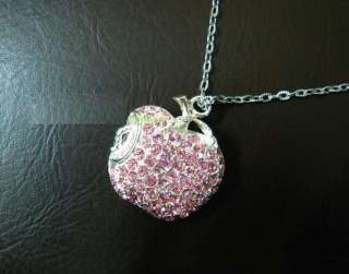 GB jewelry Crystal Apple Necklace Flash Drive usb