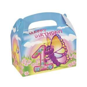 Butterfly 1st Birthday Treat Boxes   Party Favor & Goody Bags & Paper