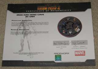 IRON MAN Original Movie Prop SIGNED by Stan Lee ~Mark 1 Hero RT Chest