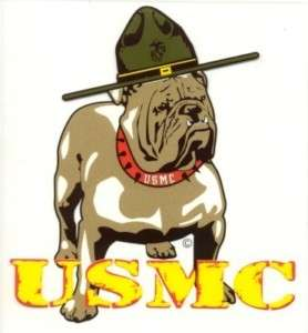 USMC Marine Corp Bulldog Decal Sticker
