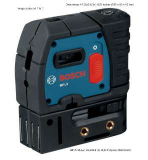 BOSCH GPL5 5 Point Self Leveling Alignment Laser NEW